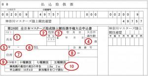 全日本M混成競技申込書